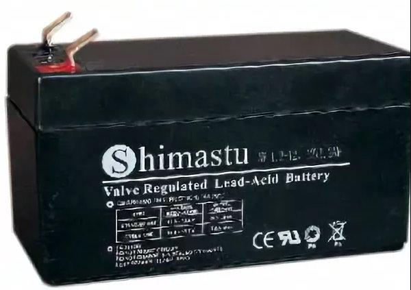 Аккумулятор SHIMASTU NP-1.3 -12 (1.3Ач, 12В) свинцово-кислотный, необслуживаемый герметичный